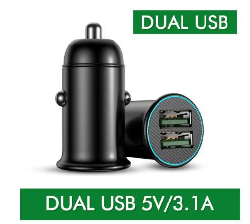 Cargador de coche con doble USB 5V