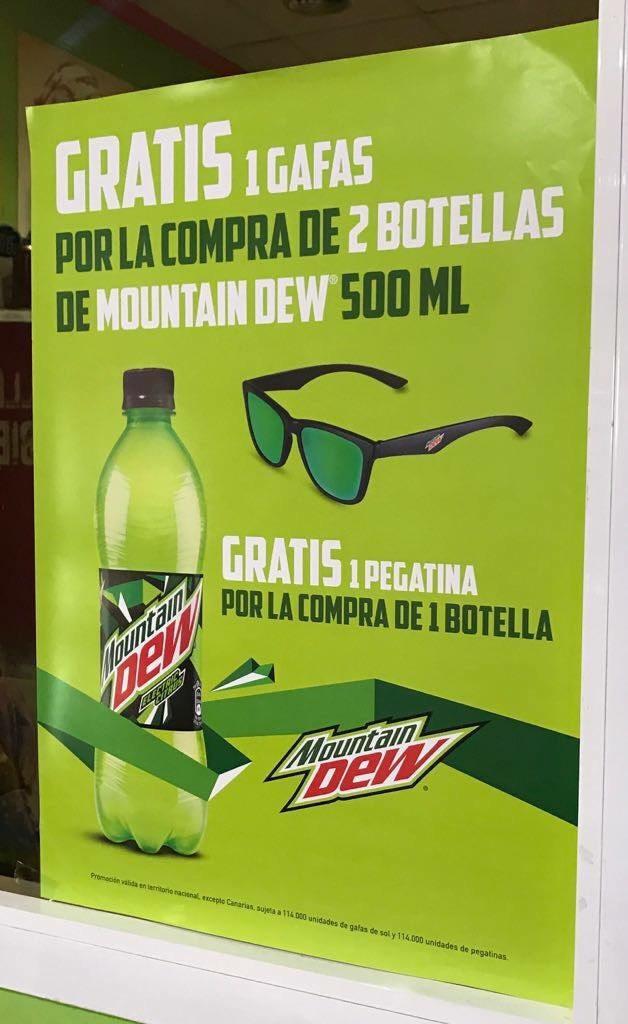 Gafas GRATIS con la compra de 2 Mountain Dew