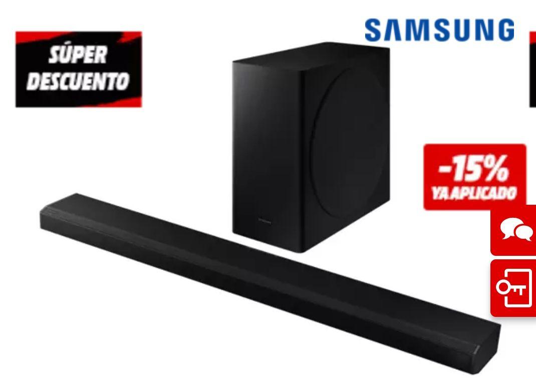 Barra de sonido - Samsung HW-Q800T/ZF, Bluetooth, Subwoofer Inalámbrico, 330 W, Amazon Alexa, *Mínimo histórico*