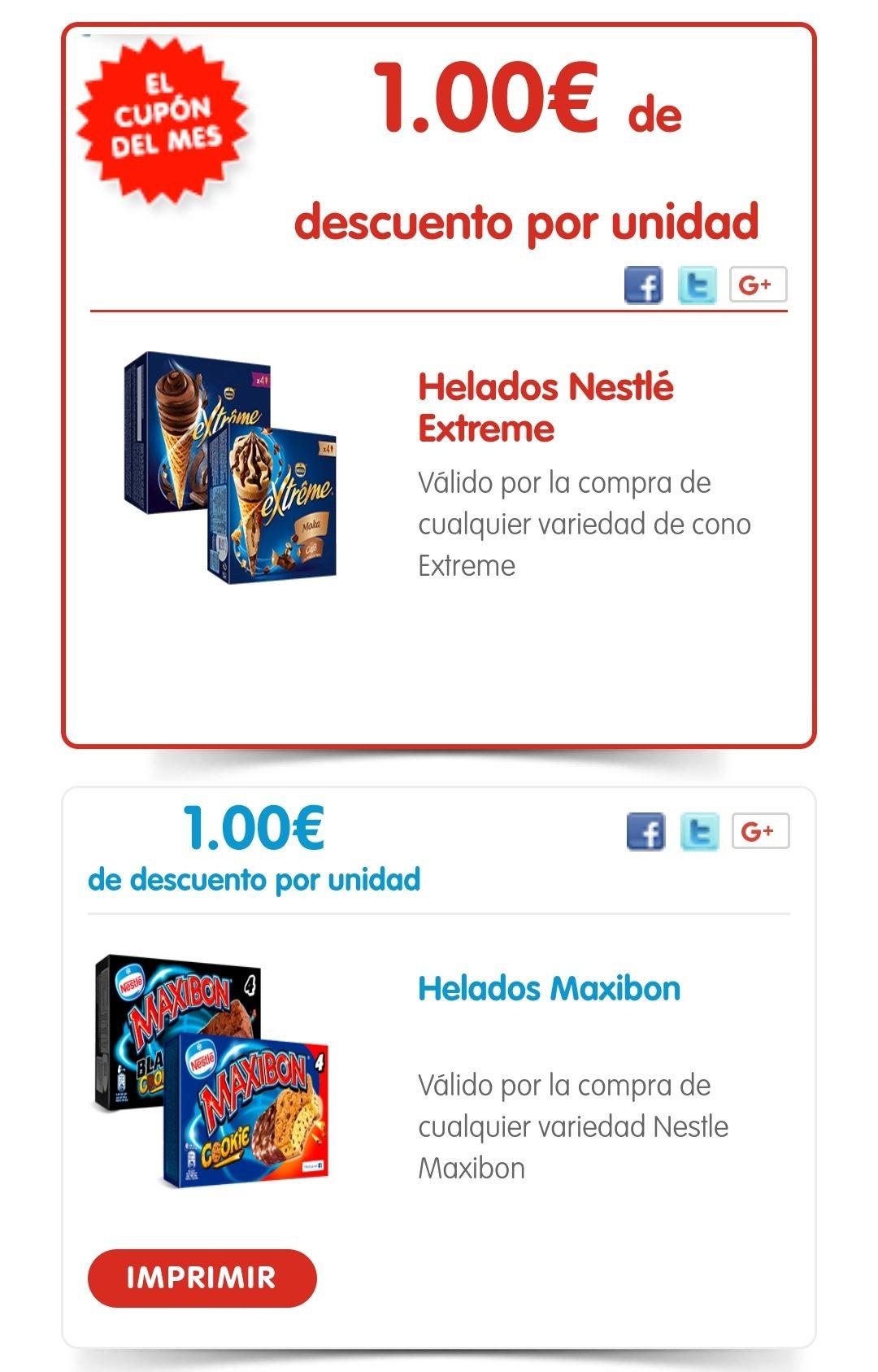 Cupones para productos Nestlé