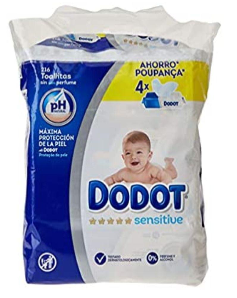 3x2 en toallitas Dodot Sensitive (sale a 5.16€ la unidad)