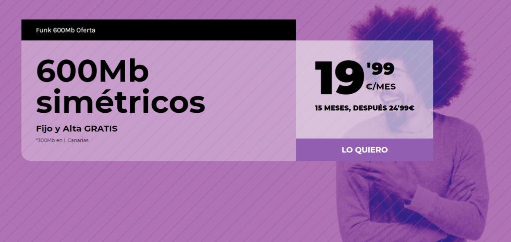 Fibra 600MB por 19,99€ ó 600MB + 1 Línea Móvil de 50GB por 29,99€ + Instalación Gratuita en Avatel (Solo en la mayor parte de Levante)