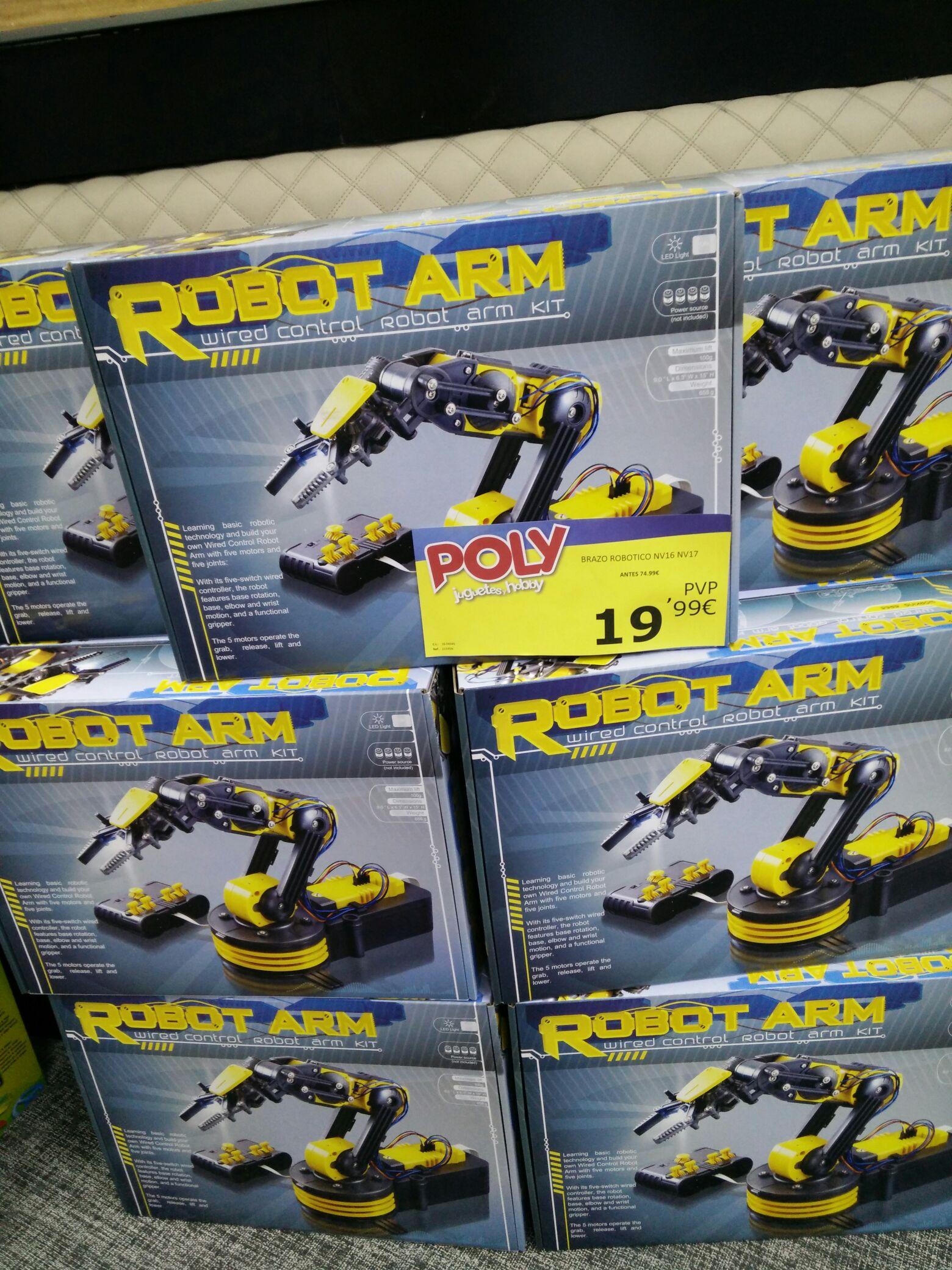 Robot arm. Brazo robótico en kit