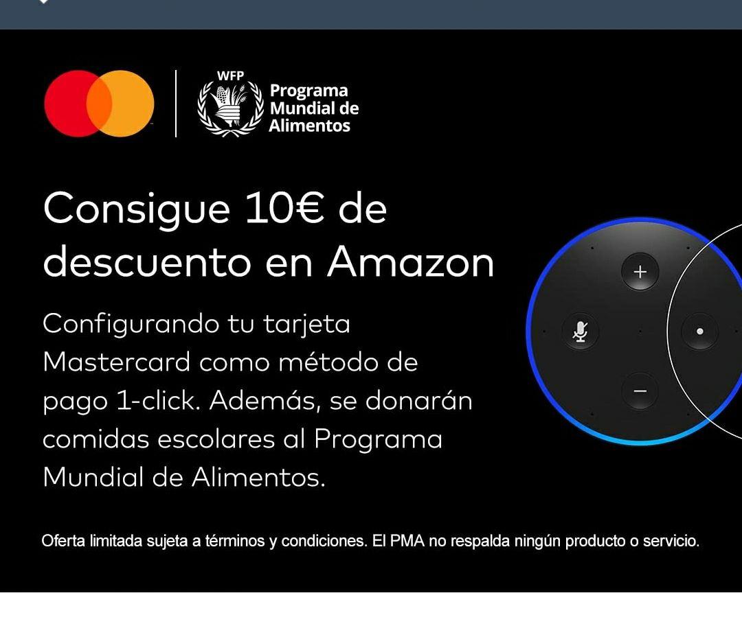 10€ de regalo en Amazon por poner MasterCard (seleccionados)
