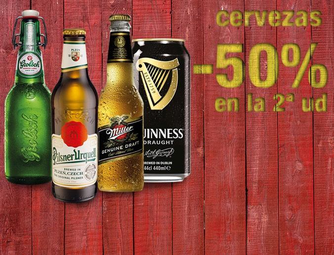 Cervezas al 50% en la segunda unidad
