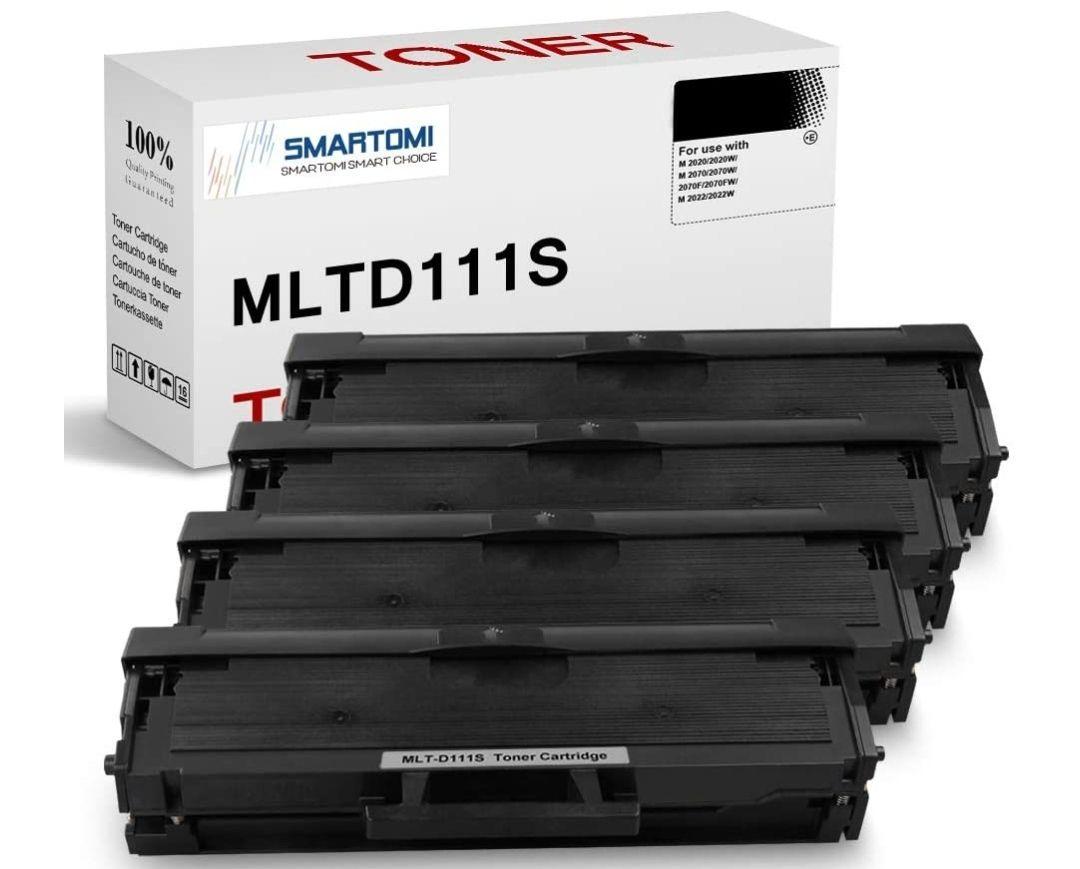 4 Cartucho de tóner Negro MLT-D111S para impresoras Samsung Xpress SL M2026 M2020 M2070