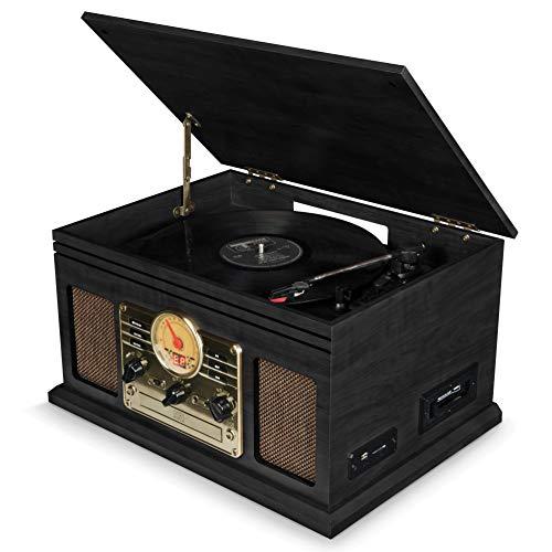 Tocadiscos de Vinilo Vintage con Altavoces Integrados y otras funciones a precio minimo!