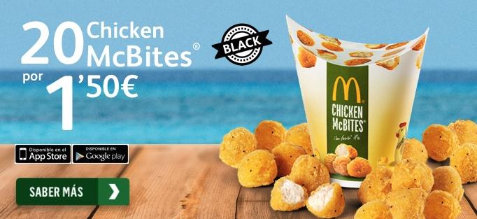 20 chiken McBites por 1,50€