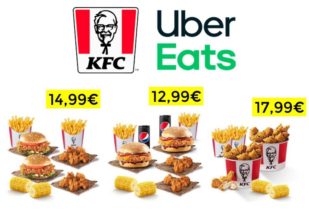 2x1 en combos KFC a domicilio en Uber Eats