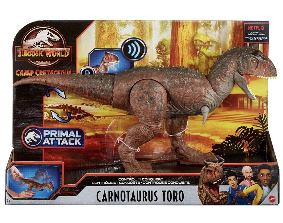 """Jurassic World Carnotauro """"Toro"""" de Campamento Cretácico"""