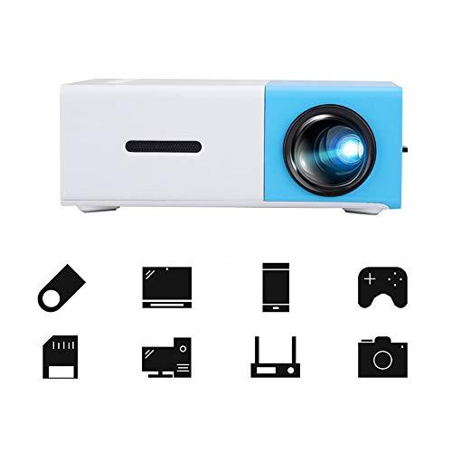 Bewinner Mini proyector, soporta 1080P, YG300 Proyector portátil de HD para fiesta HDMI/USB AV/Audio