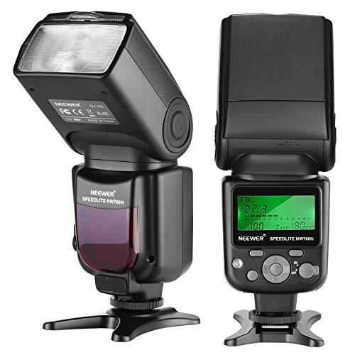 Flash para Nikon Neewer NW760 TTL Speedlite Remoto con Pantalla LCD