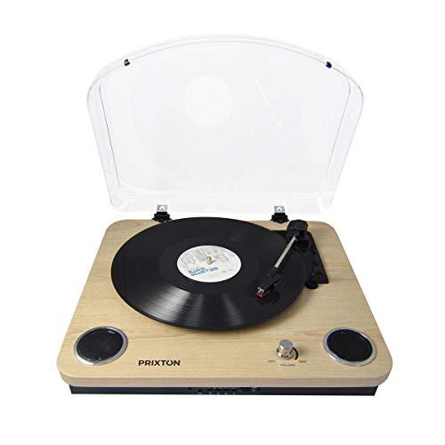 Tocadiscos de Vinilo Vintage con Bluetooth, USB y TF. PRIXTON Marconi