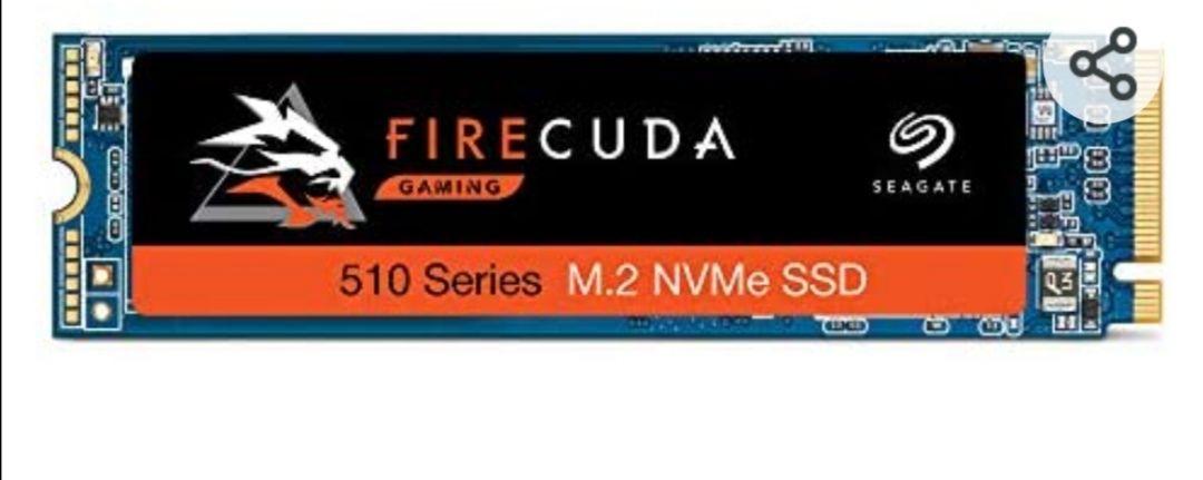 Seagate FireCuda 510 unidad de estado sólido M.2 1000 GB PCI Express 3D TLC NVMe - Disco duro sólido (1000 GB