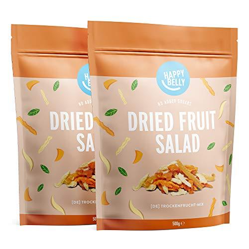 Happy Belly Cóctel de frutas deshidratadas, 2 x 500g