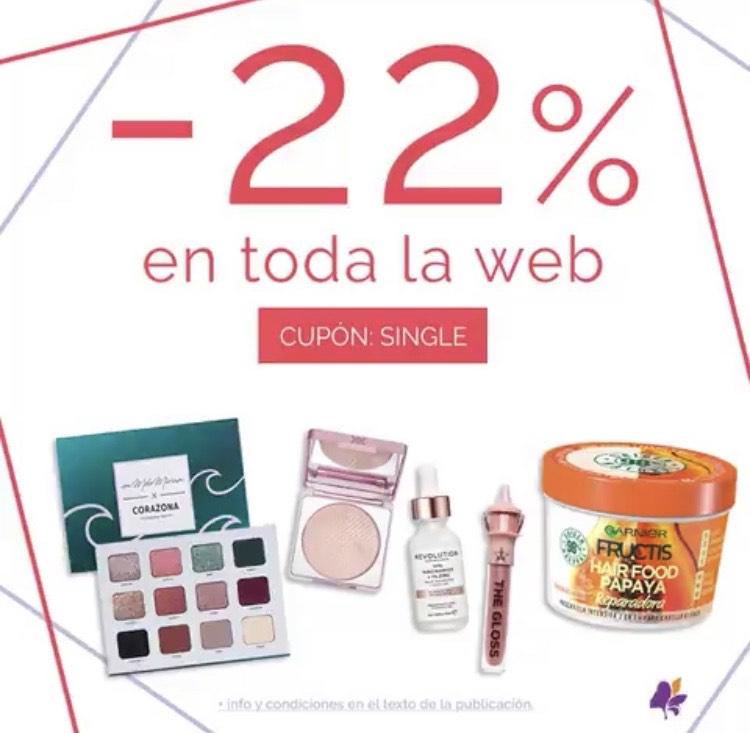 -22% en toda la web de Maquillalia
