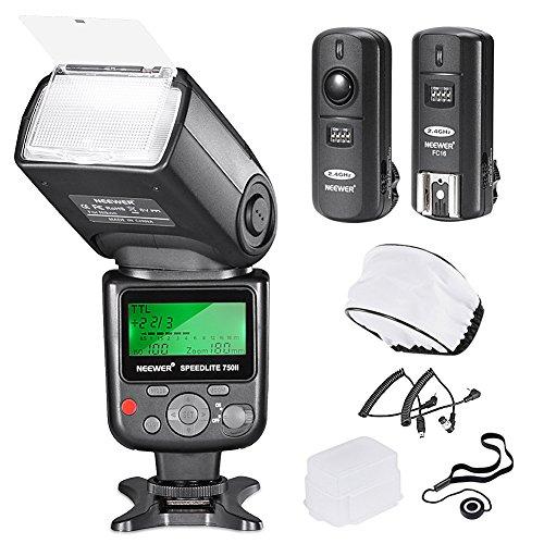 Flash Speedlite para Nikon, Neewer 750II TTL con kit y pantalla LCD