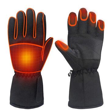 1 par de guantes eléctricos con calefacción a batería, impermeables, con pantalla táctil IPRee
