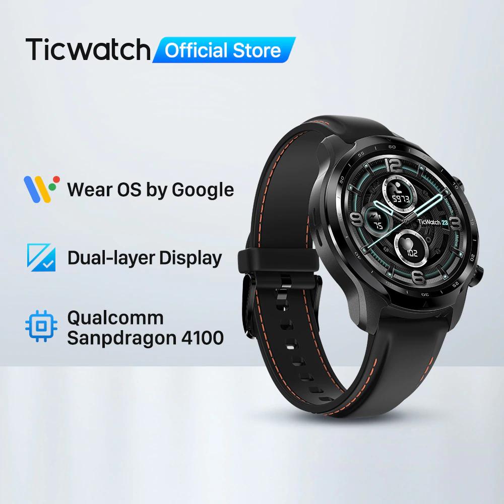 TicWatch 3 pro -reloj inteligente con GPS Snapdragon Wear 4100, 8GB ROM
