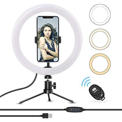 Anillo de luz Earsun para móvil con trípode