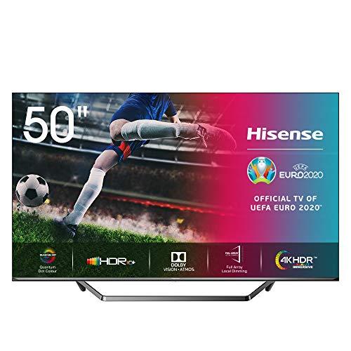 "Hisense ULED 2020 50U7QF - Smart TV 50"" Resolución 4K, Quantum Dot, FALD, Dolby Vision, Dolby Atmos, Vidaa U 4.0 con IA, Alexa Built-in"