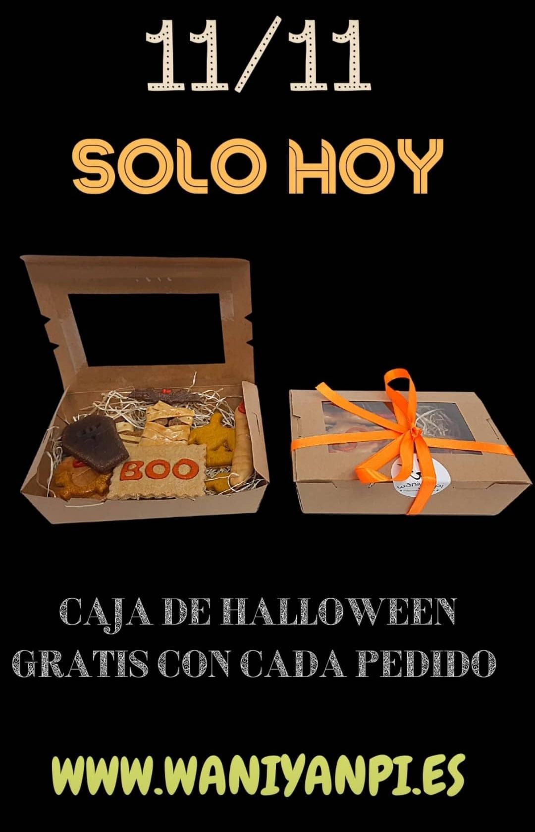 Solo hoy te regalaran con tu pedido una caja de galletas de Halloween para tu mascota