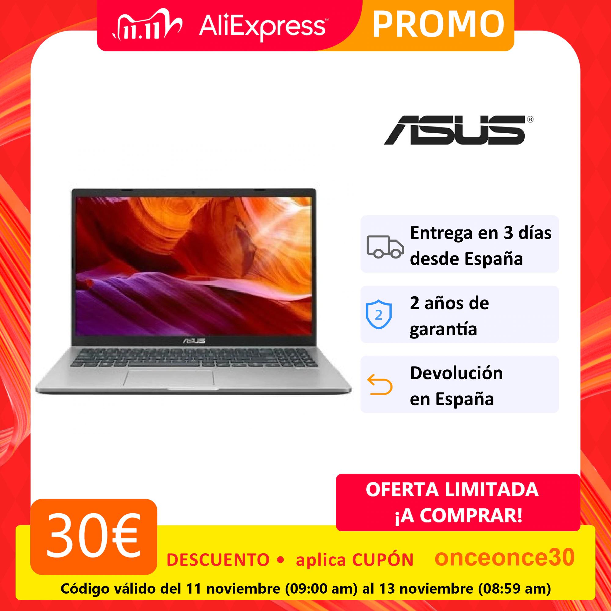 "Portátil ASUS X409JA-BV144T: 14"" / i3-1005G1 / 8GB / 256GB / Windows 10"