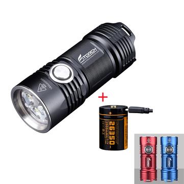 Fitorch P25 4x XPG3 3000LM Potente juego de linterna LED EDC con batería de iones de litio de carga USB 26350 IPX8