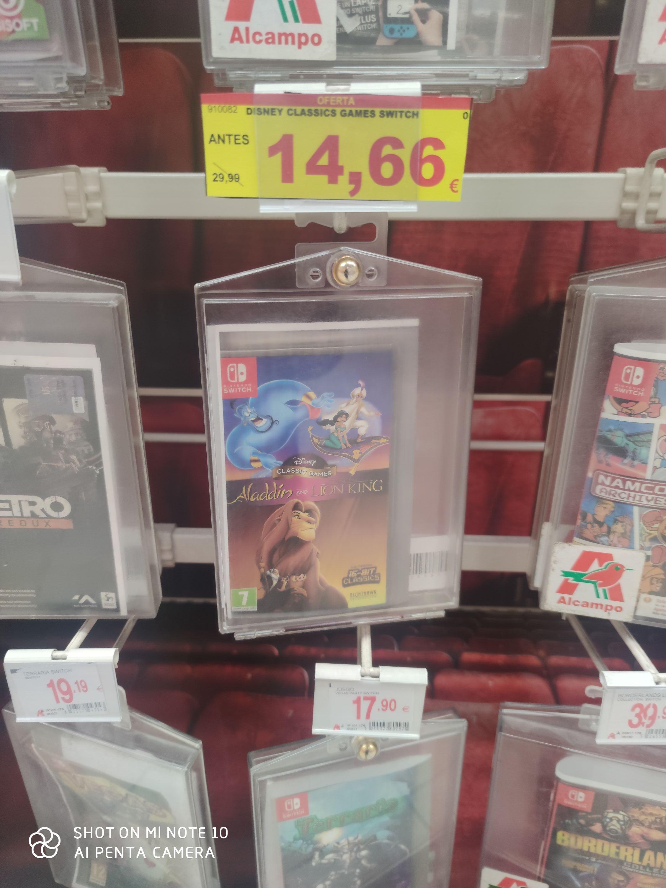 Aladdin y Rey León Nintendo Switch