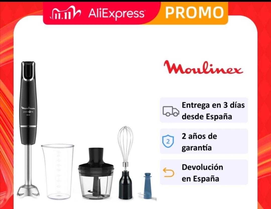Batidora de Mano Moulinex Powelix Life 1000W + 3 Accesorios