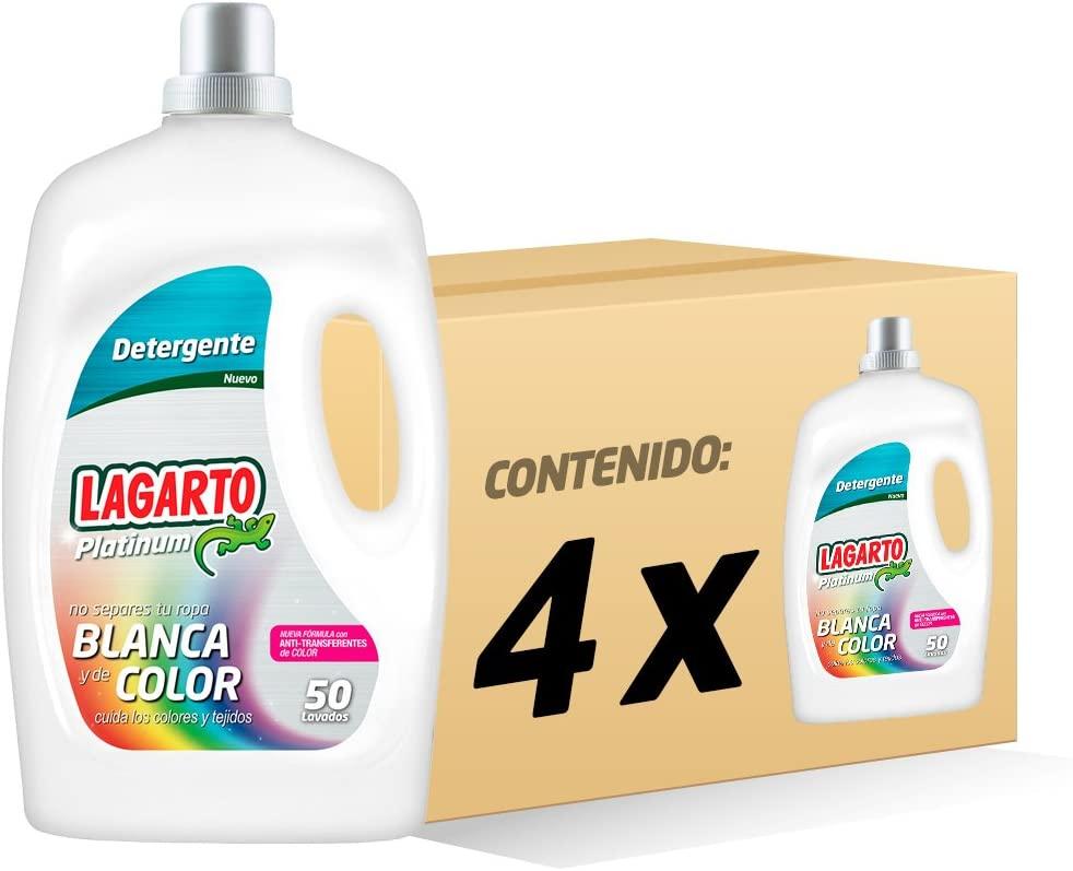 Detergente líquido lagarto 3.250 ml, pack de 4 unidades