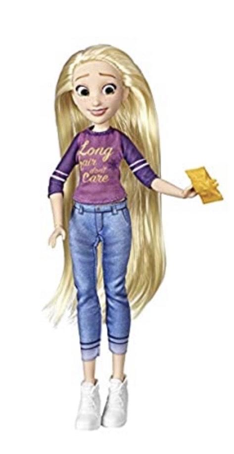 Muñeca Rapunzel Disney Princess y dos más en descripción