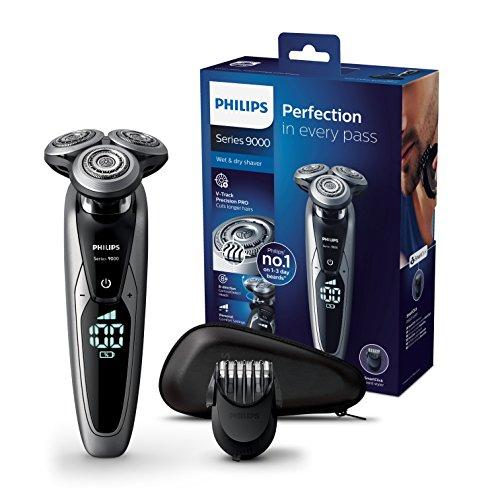 Philips Serie 9000 S9711/41 - Máquina de afeitar con cabezales de 8 direcciones, seco/húmedo y 3 modos