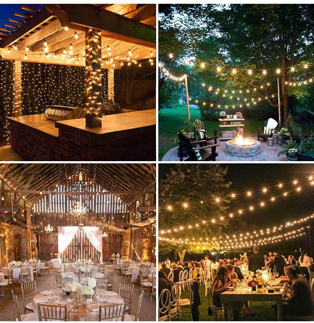 Guirnalda luces Led, 15 bombillas ideal patios y jardines