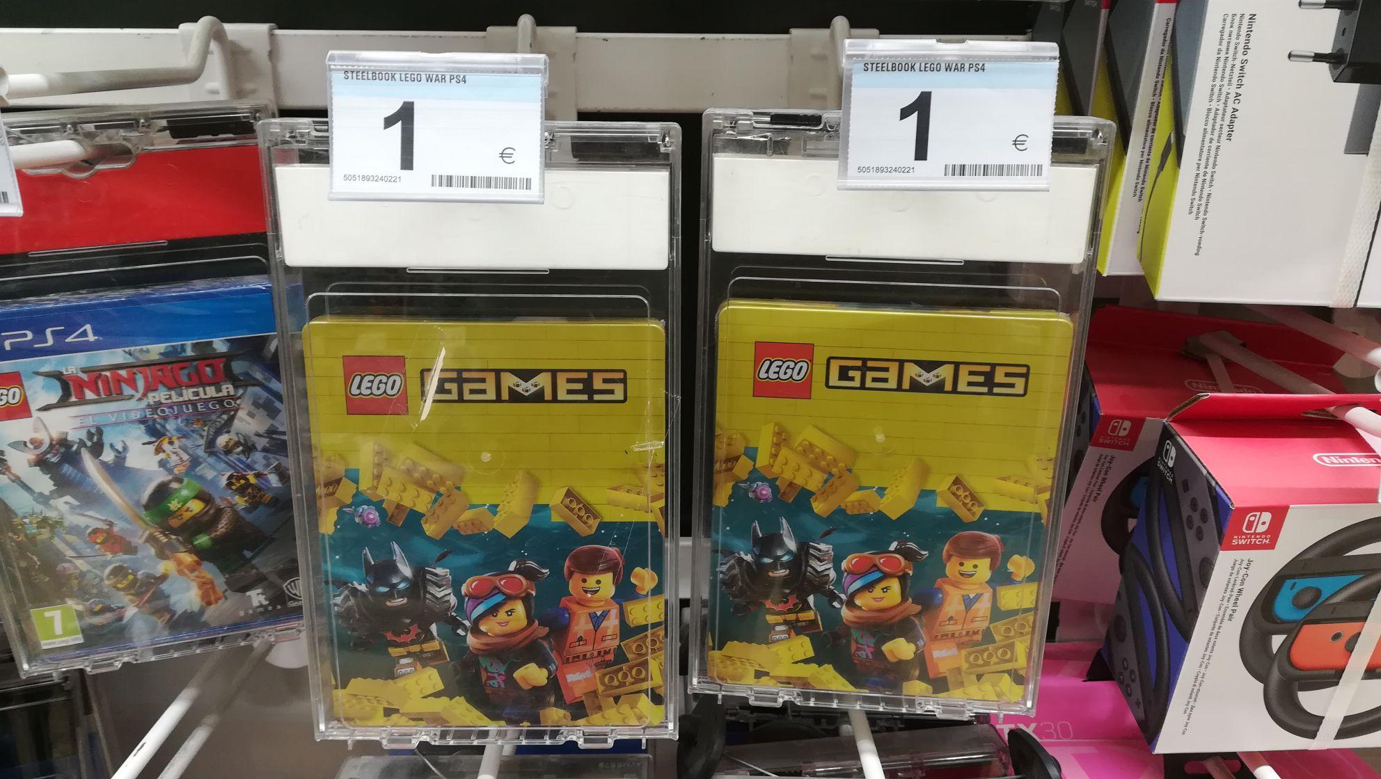 Steeelbook Lego Games PS4/Xbox en el carrefour de Barakaldo (Bilbao)