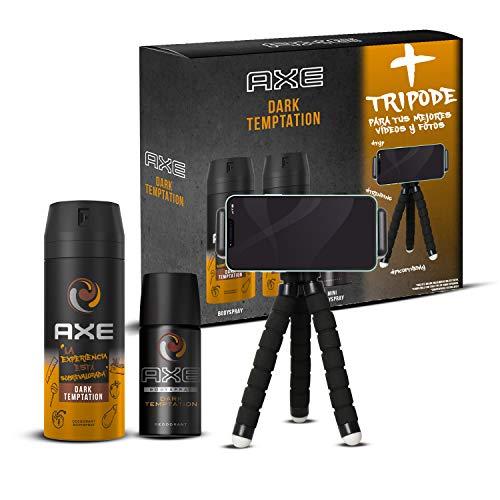 AXE Pack Dark Temptation - 2 Desodorantes x 150 ml + Mini desodorante 35 ml + Trípode *Mínimo histórico*