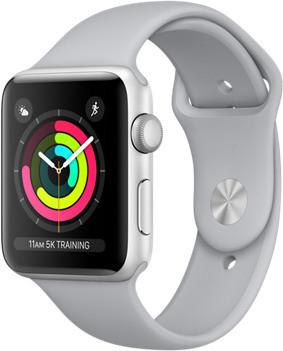 Black Friday Apple Watch Series 3 GPS, 38 mm, Caja de aluminio gris espacial y correa deportiva negro