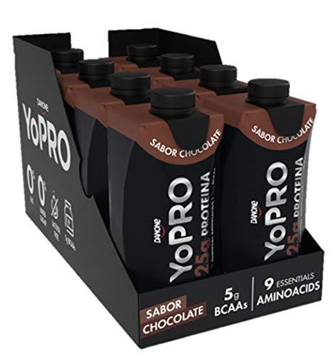 YoPro sabor Chocolate Pack 8 uds . Batido de 25G proteína. 8 x 330ml