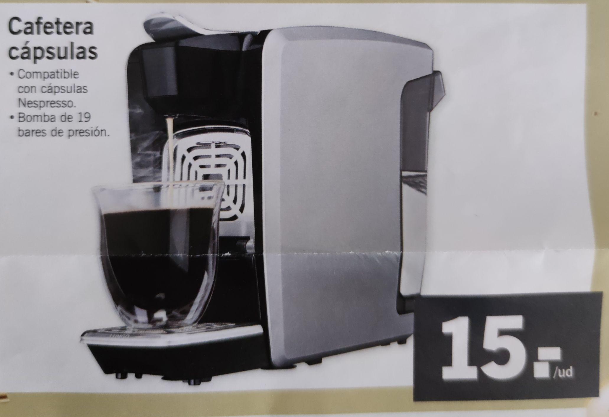 Cafetera cápsulas tipo Nespresso