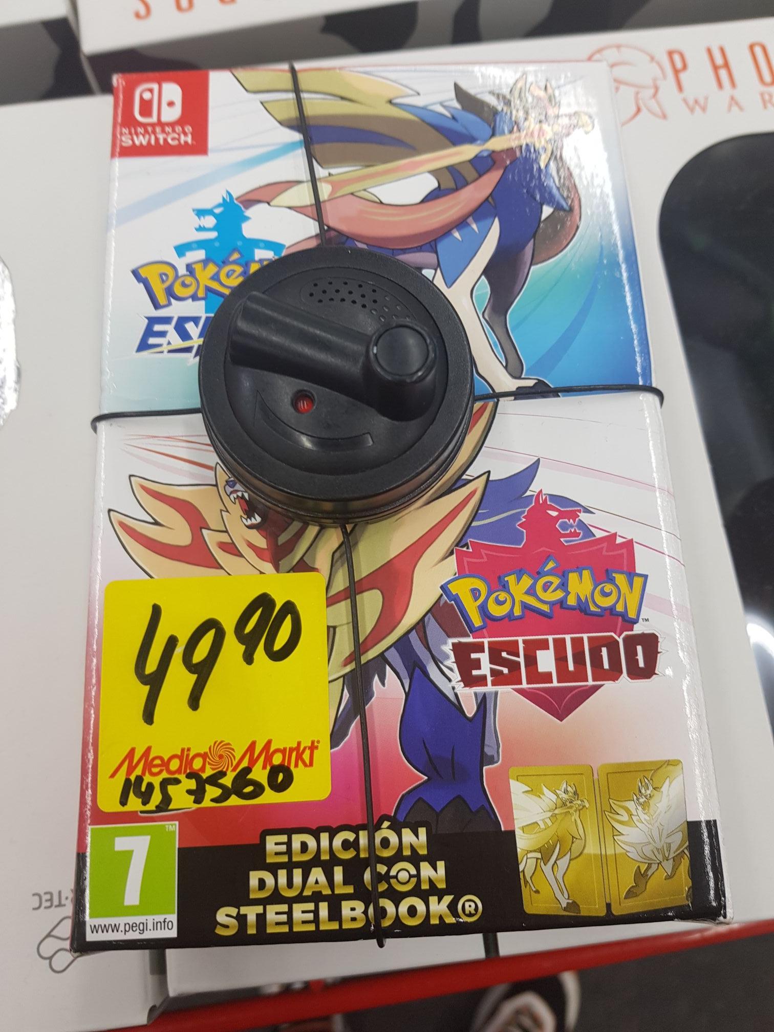 Pokémon escudo + pokemon espada + steelbook (Mediamarkt Toledo) y alguna oferta más