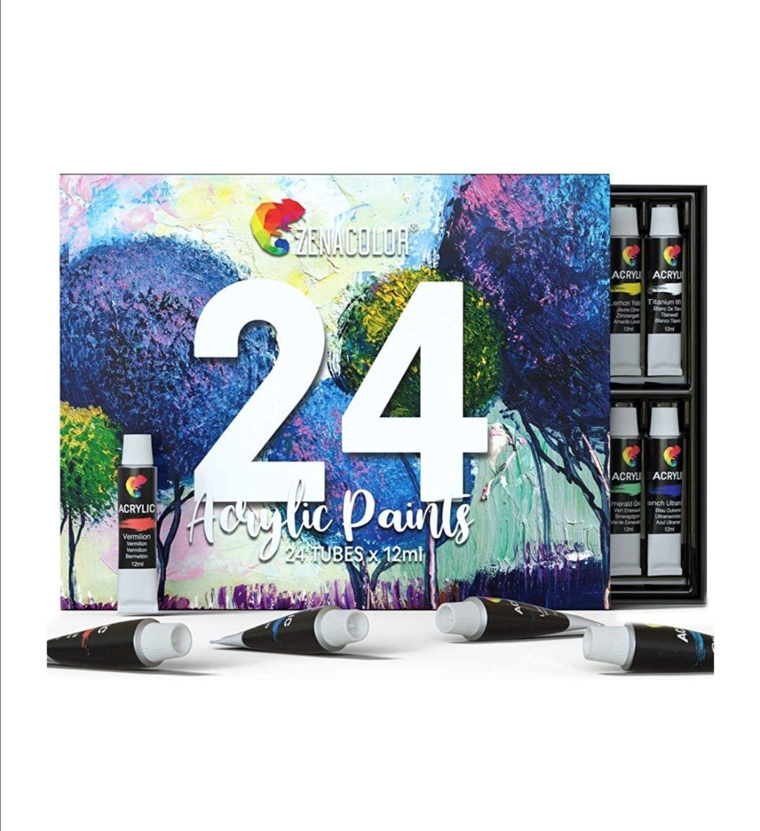 24 pinturas Acrílicas oferta flash