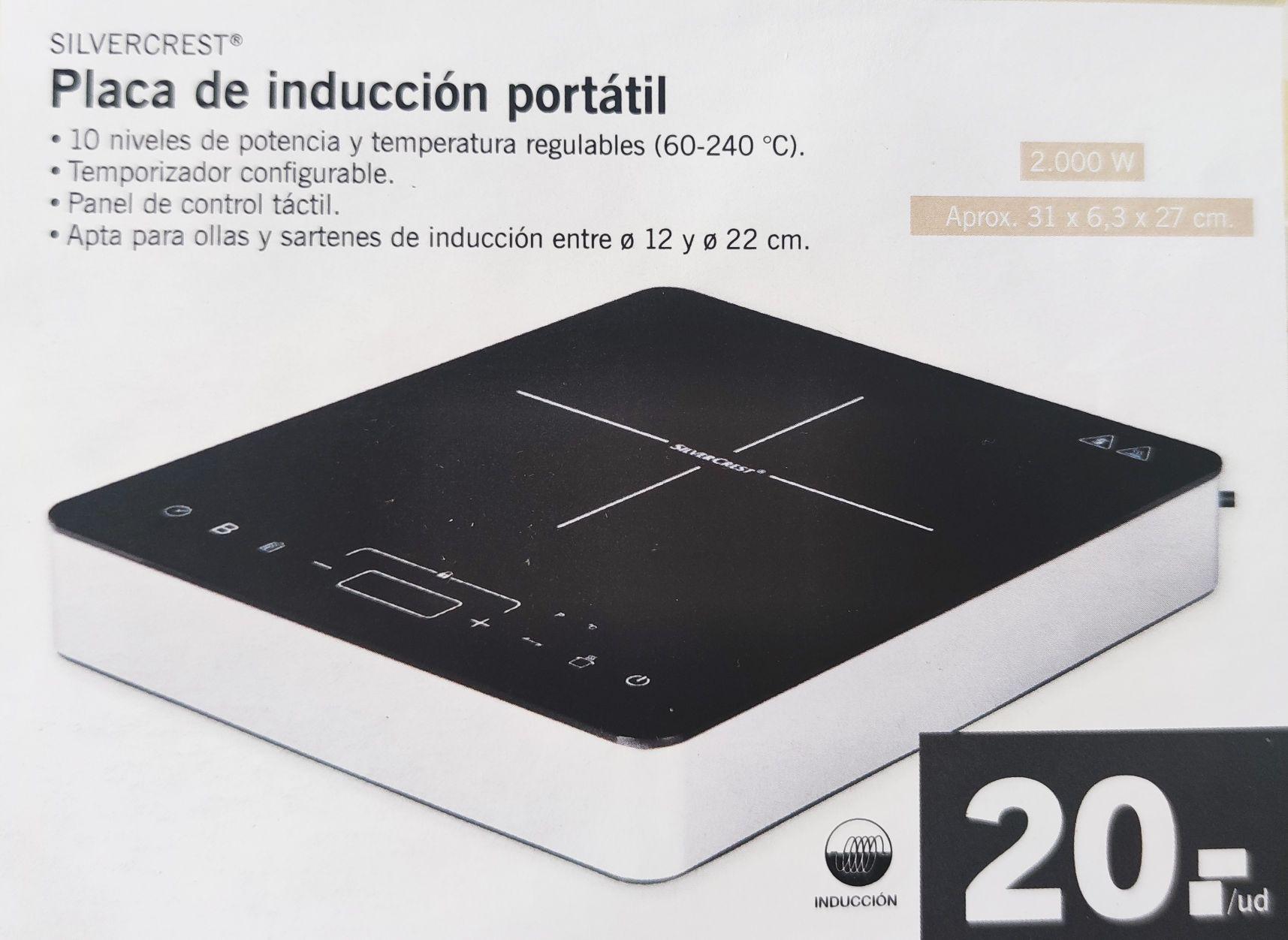 Placa inducción portátil