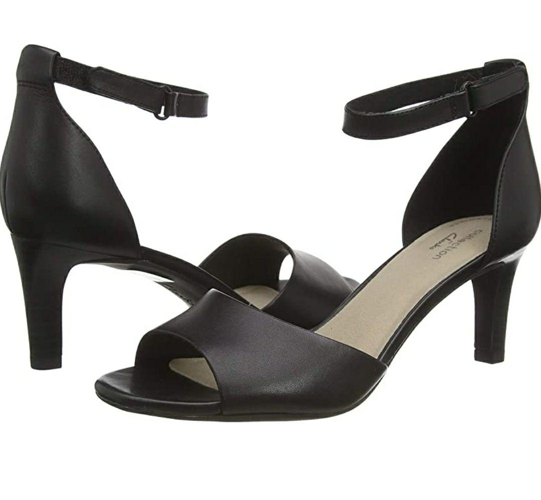 TALLA 41 - Clarks Alice Greta, Zapatos con Tacon y Correa de Tobillo para Mujer