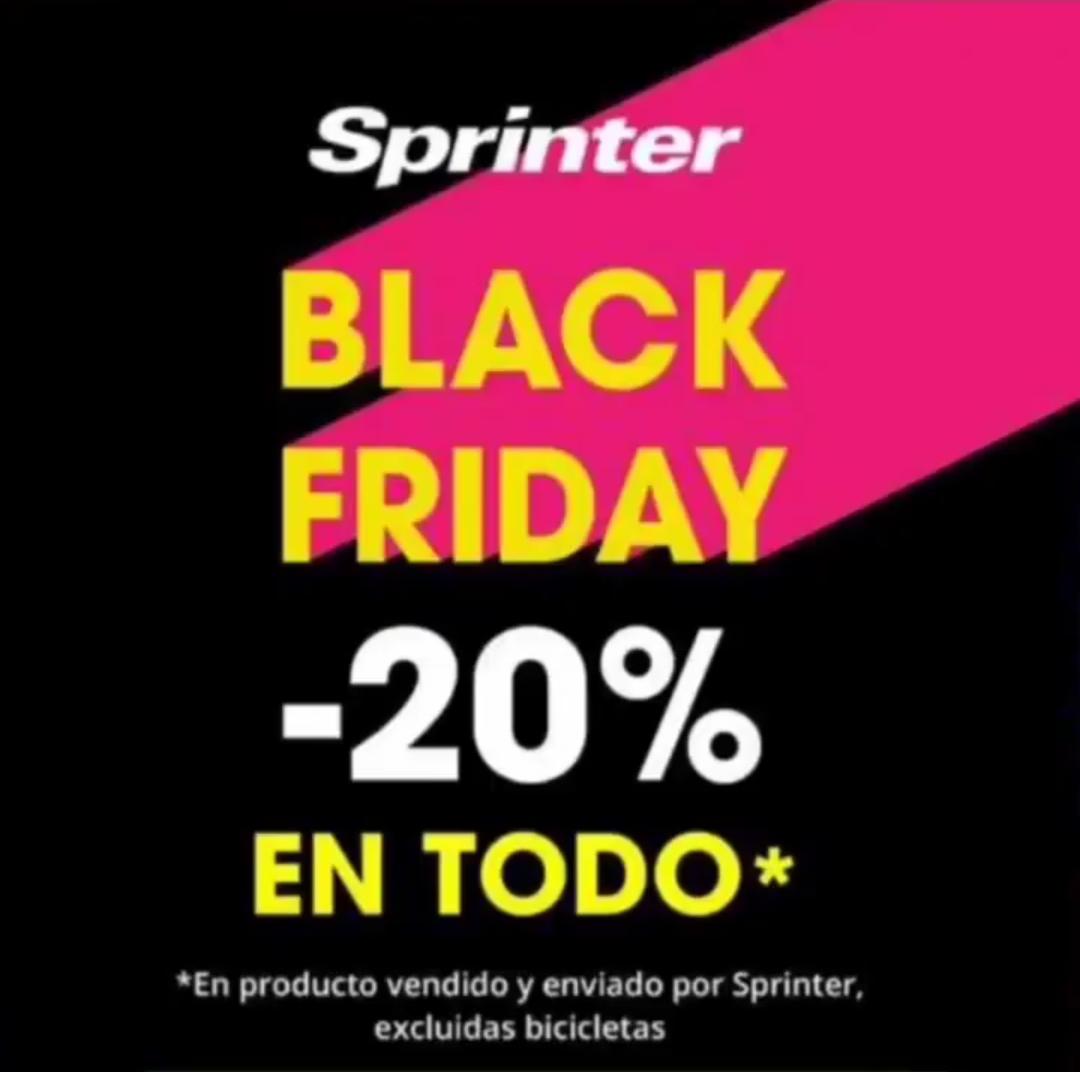 -20% DTO en todo Sprinter excepto bicis