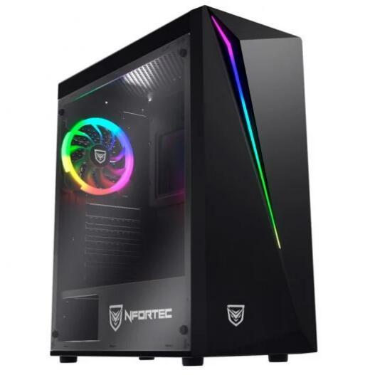 Nfortec Lynx Cristal Templado USB 3.0 RGB Negra