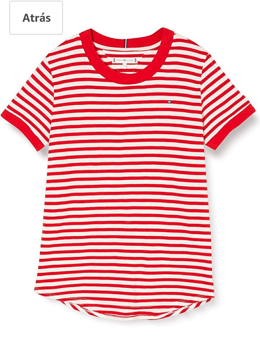 TALLA 4 AÑOS - Tommy Hilfiger Essential Stripe Top S/S Camisa para Niñas