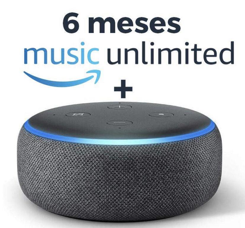 Echo Dot 3ªGen + 6 Meses Amazon Music Unlimited