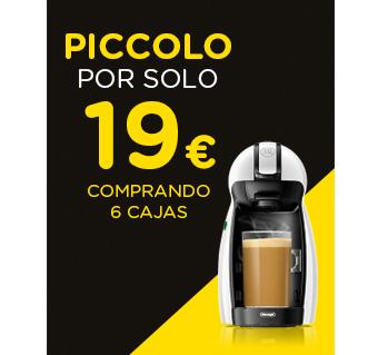 Cafetera Piccolo + 6 cajas de café+ cupón de 15/20€