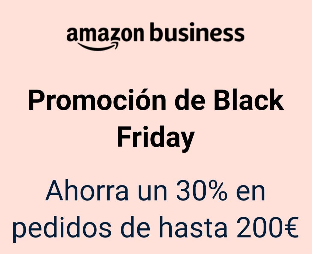 Amazon Business Black Friday - Ahorra hasta 60€ en tus compras de Black Friday