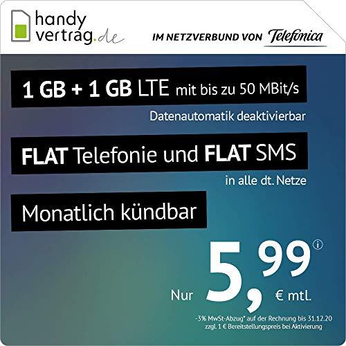 SIM móvil Contrato LTE All 1 + 1 GB Alemán